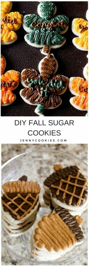 fall leaves | fall cookie recipes | how to decorate fall cookie | fall dessert recipes | cookie decorating tips | fall dessert recipes | homemade cookie decorating tips || JennyCookies.com