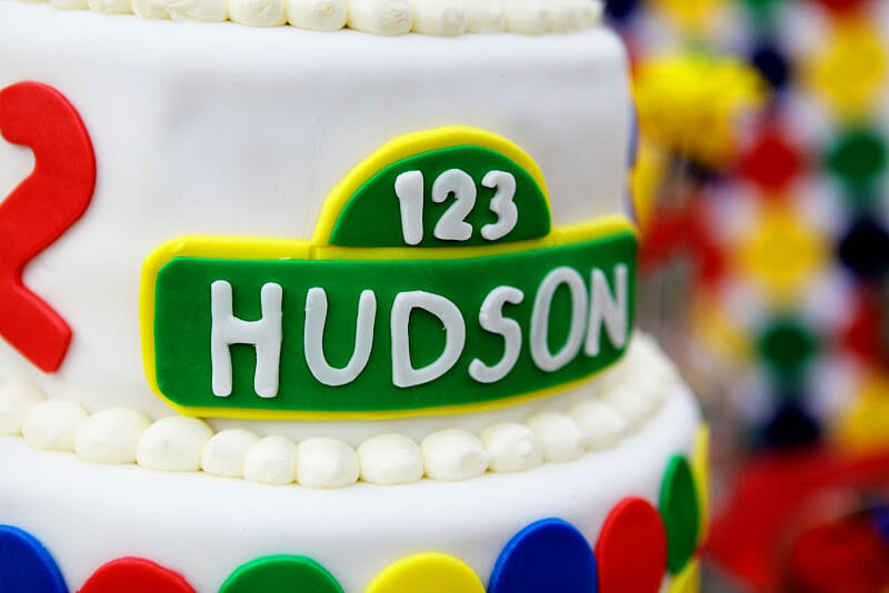Hudson is 2 | toddler birthday party ideas | birthday parties for boys | sesame street themed birthday party | how to throw a toddler birthday party | two year old birthday party ideas | birthday party ideas for kids || JennyCookies.com