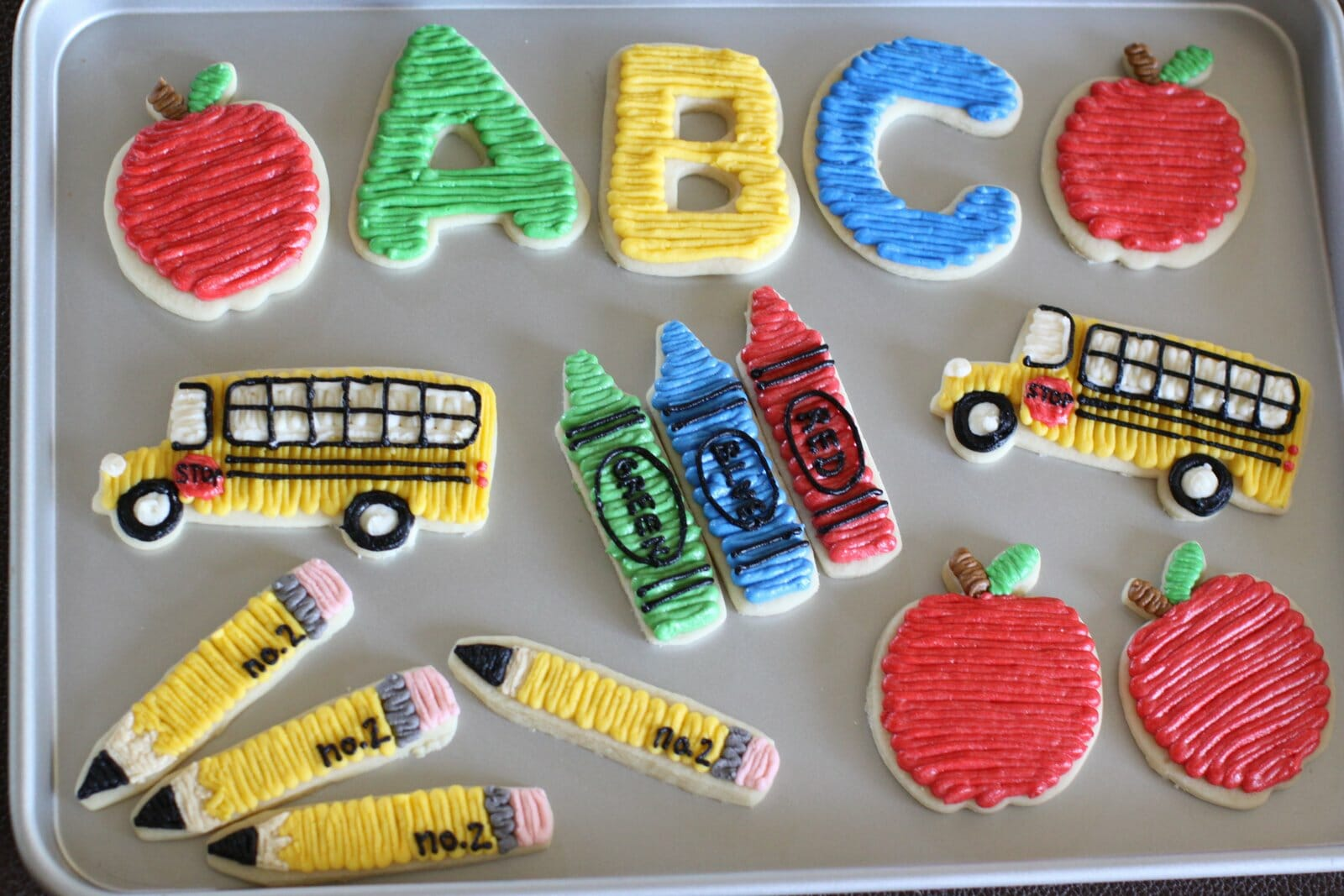 ABC Crayola Cookies