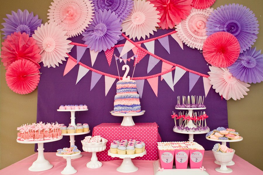 How To Throw A Pink And Purple Themed Birthday Party Girl Ideas Simone S 2nd