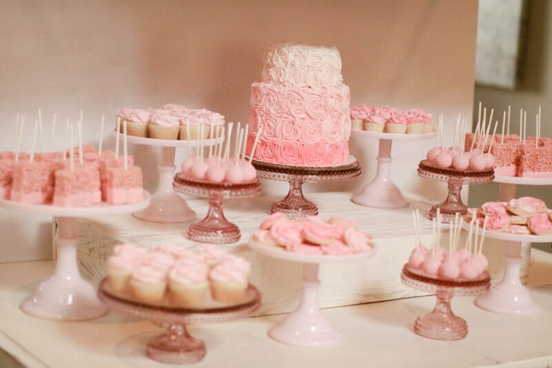 baby shower dessert table for girl bake shop baby shower dessert table