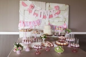Sweetheart Pink Dessert Table, Hidden Meadows Snohomish