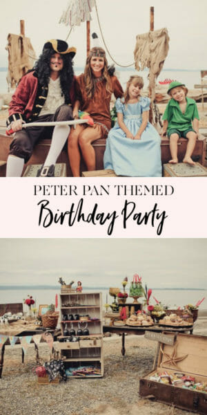 Peter Pan Birthday Party | themed birthday parties for boys | birthday party ideas for boys | Peter Pan themed party | Peter Pan party ideas | how to decorate for a Peter Pan party || JennyCookies.com #birthday #birthdayparty #kidsbirthday #peterpan #jennycookies