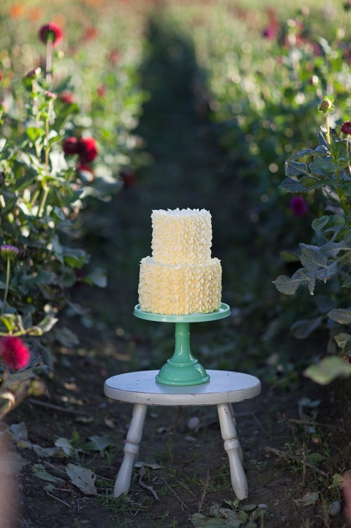 Yellow Piped Buttercream Cake