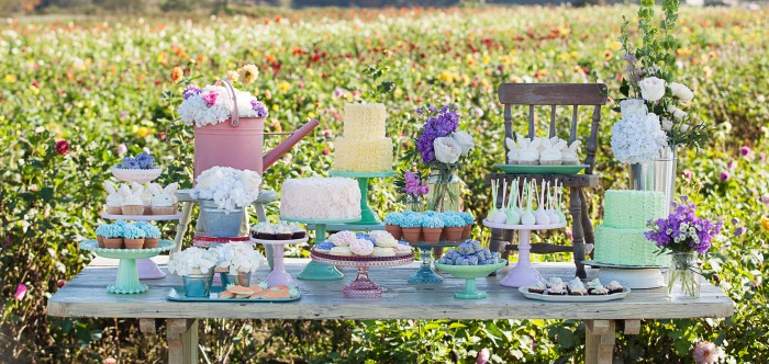Spring Themed Dessert Table
