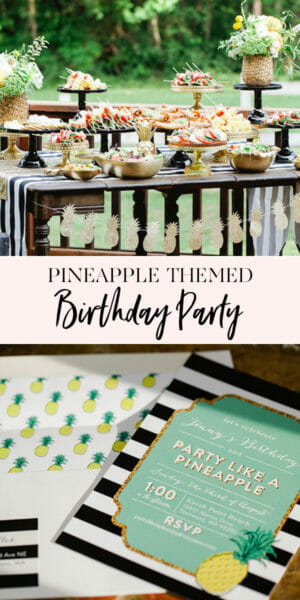 How to Throw a Pineapple Themed Party | summer party ideas | pineapple decor | pineapple party recipes | unique summer parties || JennyCookies.com #summerparties #pineappledecor #funpartyideas #jennycookies