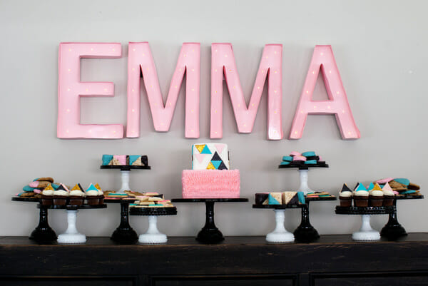 A GEOMETRIC BABY SHOWER