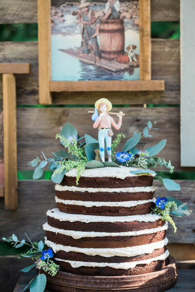 Naked German Chocolate Cake – Jenny Cookies
