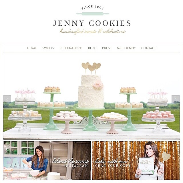 My new website is up!! In love with my new logo and site created by the talented @harpergraydesigns. She's amazing you guys!! www.jennycookies.com