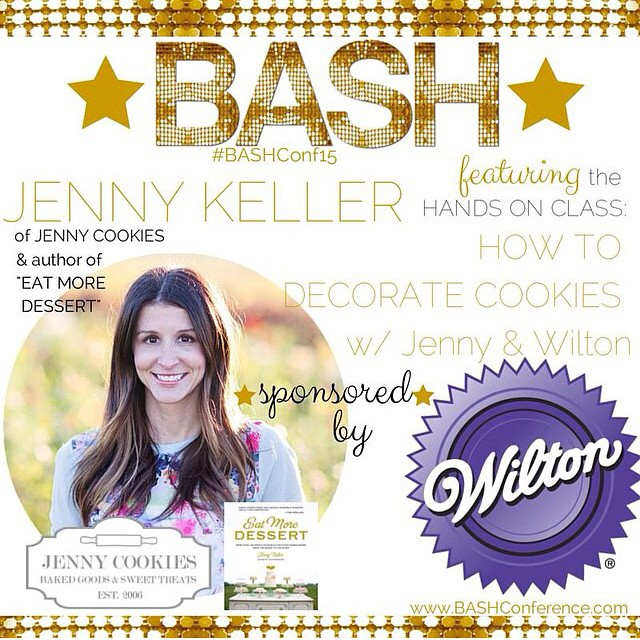 So excited to announce I'll be presenting at @bashconference with a hands on COOKIE DECORATING class with @wiltoncakes!! Join me in January along with @thealisonshow, @tomkatstudio, @hwtm, @amyatlas and many, many more fantastic presenters!! I can't wait!