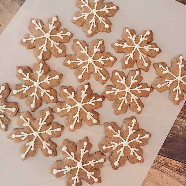 Fresh gingerbread cookies for @tathiessen & @jillsmithdesign's holiday party #dinnerattiffanis