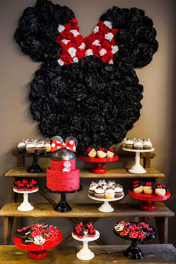 How to Host a Minnie Mouse Birthday Party | minnie mouse themed party | girl birthday party ideas | minnie mouse party decor | themed birthday party ideas | kids birthday party ideas | diy minnie mouse party || JennyCookies.com #minniemouse #birthdaypartyideas #kidsbirthdayparty
