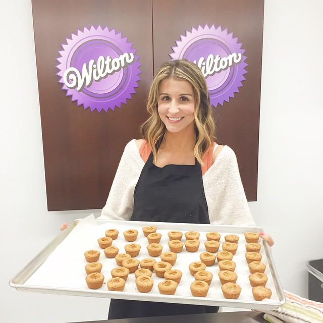 Trying out some new recipes at the @wiltoncakes School of Decorating. It's fascinating {and inspiring} to learn how this brand was built in 1920 and continues to be the leader in the industry today. #wiltonsweetup