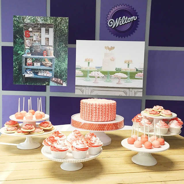 Had the best time presenting at @wiltoncakes this evening! Taught a class on Creating the Perfect Dessert Table and helped launch Wilton's newest product, the Display Your Way Cake Stand.. In stores today!! #wiltonsweetup
