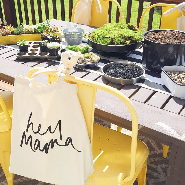 Hosting an early Mothers Day #ladieslunch today with a fun YouTube video! Can you guess what we're making?!! (Hey Mama totes by @hellototes)