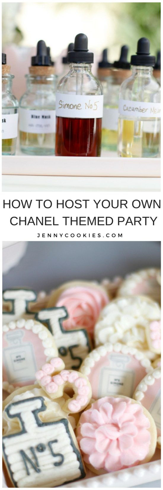 Chanel Inspired Birthday Party | chanel themed party | chanel party ideas | themed birthday party ideas | girl birthday parties | kids birthday parties | diy birthday party ideas || JennyCookies.com #chanel #chanelparty #themedparty #kidsbirthdayparty