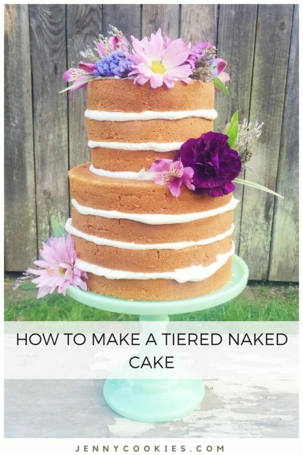 how to make a tiered naked cake