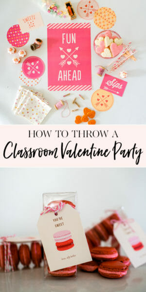 How to Throw a Classroom Valentine's Day Party | diy class Valentines | Valentine's Day parties for kids | kid friendly Valentine's Day party | handmade Valentines | Valentine's Day party ideas || JennyCookies.com #valentinesdayparty #diyvalentines #valentinesday #jennycookies