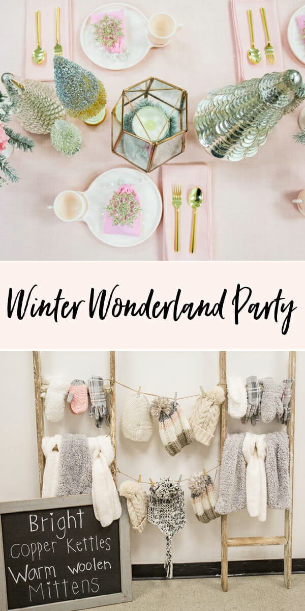 Pinterest Names Blush Pink And Mint Green As Its 2016: Winter Wonderland Party