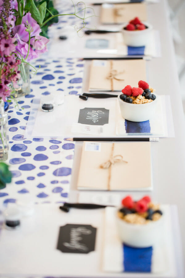 The Art of Lettering : How to Host a Calligraphy Brunch | party ideas for women | ladies night party ideas | party ideas for ladies night | women's party ideas | hand lettering tips and tricks | calligraphy tips and tricks | unique party ideas || JennyCookies.com