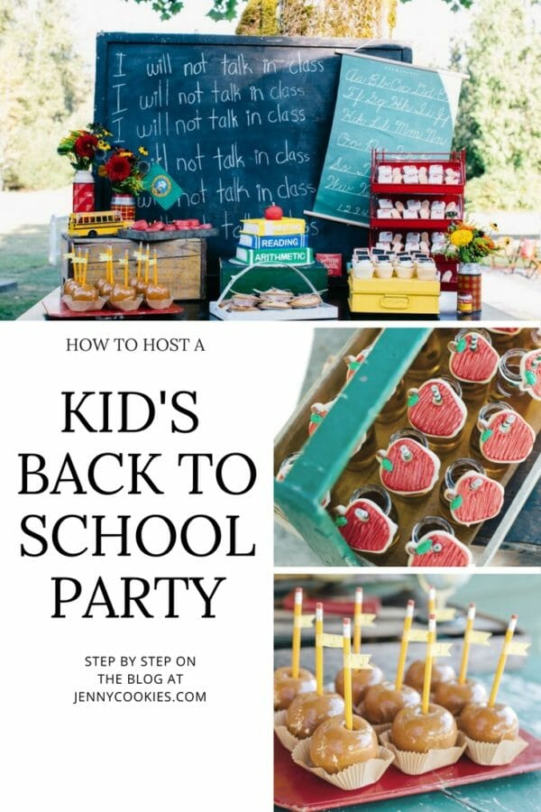 How to Host a Back to School Party | There's still time to plan your own Back to School party for friends and family.  Start by sending digital invites to guests from Minted.  Their invites are adorable and super simple to use.  The best part? They're free! || JennyCookies.com #backtoschool #partyideas #backtoschoolparty #kidsparties