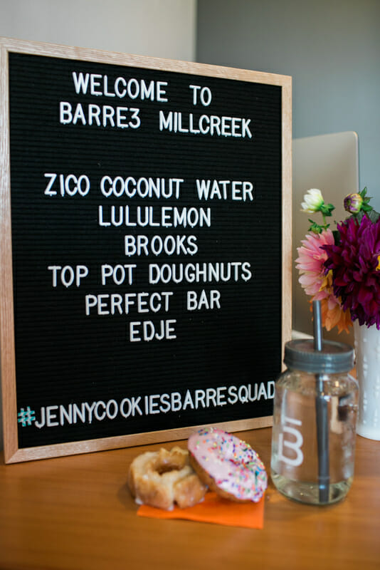 DIY Doughnut Brunch Bar | fun food bar ideas | hosting a brunch | how to host a brunch | doughnut themed party ideas | brunch bar ideas | food themed party ideas || JennyCookies.com