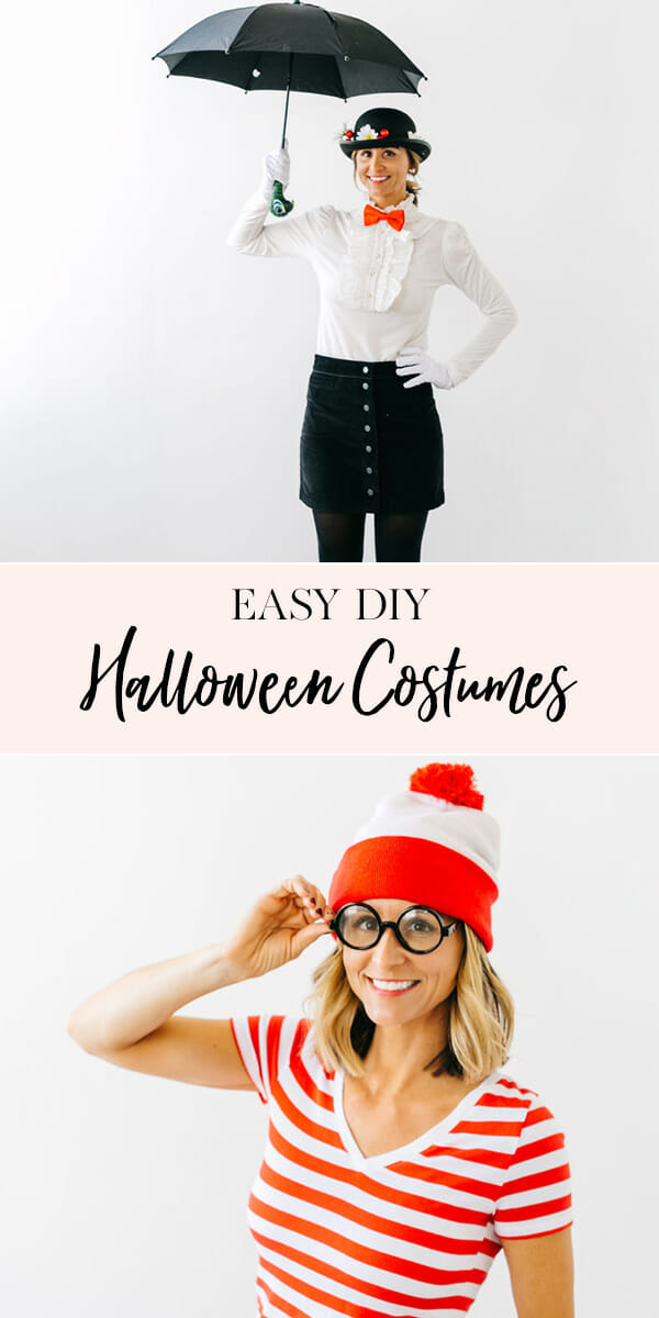Easy Halloween Costume Ideas | adult halloween costume ideas | DIY halloween costume ideas | homemade halloween costume ideas | halloween costume ideas for adults || JennyCookies.com #halloweencostumes #diycostumes #diyhalloween