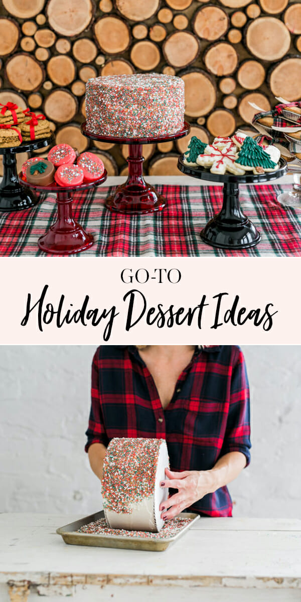 Go to Holiday Dessert Ideas from JennyCookies.com || #holidays #desserts #christmas #holidaydesserts #jennycookies