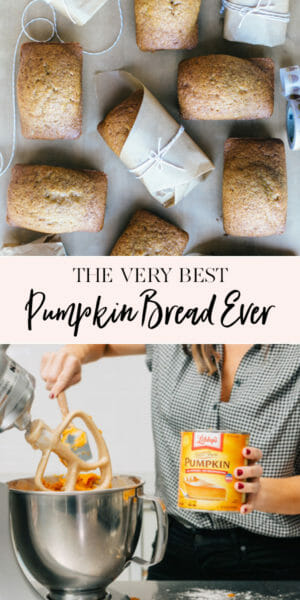 The BEST PUMPKIN BREAD EVER. | homemade pumpkin bread recipes | fall recipe ideas | pumpkin recipe ideas | ways to use pumpkin this fall | fall inspired recipes | how to make pumpkin bread | easy pumpkin bread recipes || JennyCookies.com #pumpkinbread #pumpkin #fallrecipes #sweetbread #jennycookies
