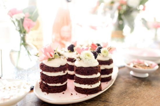 Cake With Several Layer For Valentine Party