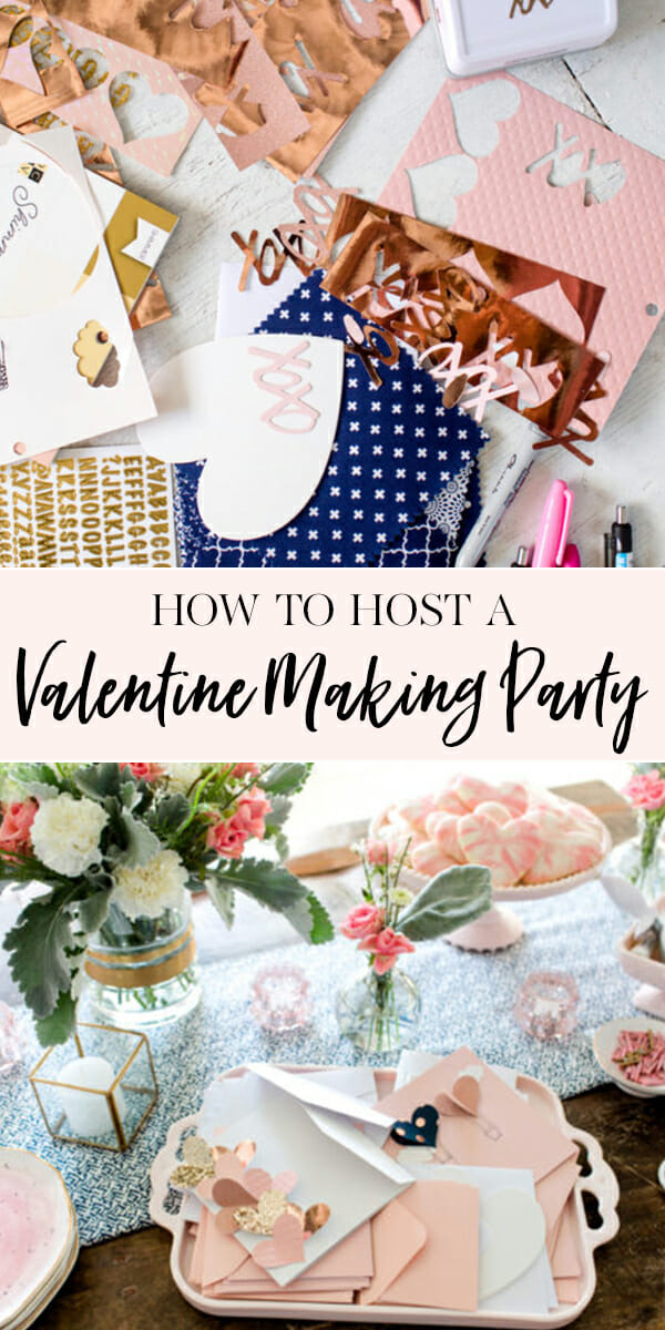#ad How to Host a Valentine Making Party | Valentine ladies lunch ideas | Valentine inspired lunch | hosting a ladies lunch | Valentine party for adults || JennyCookies.com #valentineparty #valentinelunch #ladieslunch #jennycookies #handmadewithjoann