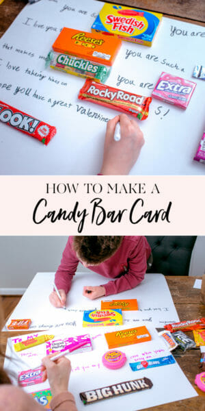 How to Make a Candy Bar Card! | valentine candy bar card | candy bar card ideas | valentine gift ideas || JennyCookies.com #candybarcard #valentinegifts #valentineideas #jennycookies