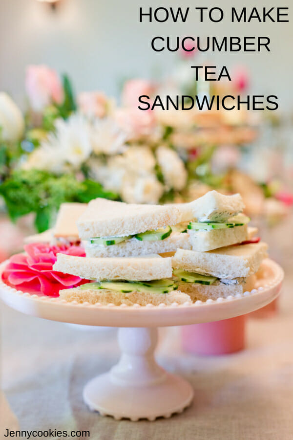 Cucumber & Dill Sandwiches | finger food recipes | tea sandwich recipes | tea party recipes | homemade sandwich recipes || Jenny Cookies #teaparty #cucumbersandwiches #teapartyfoods #recipes
