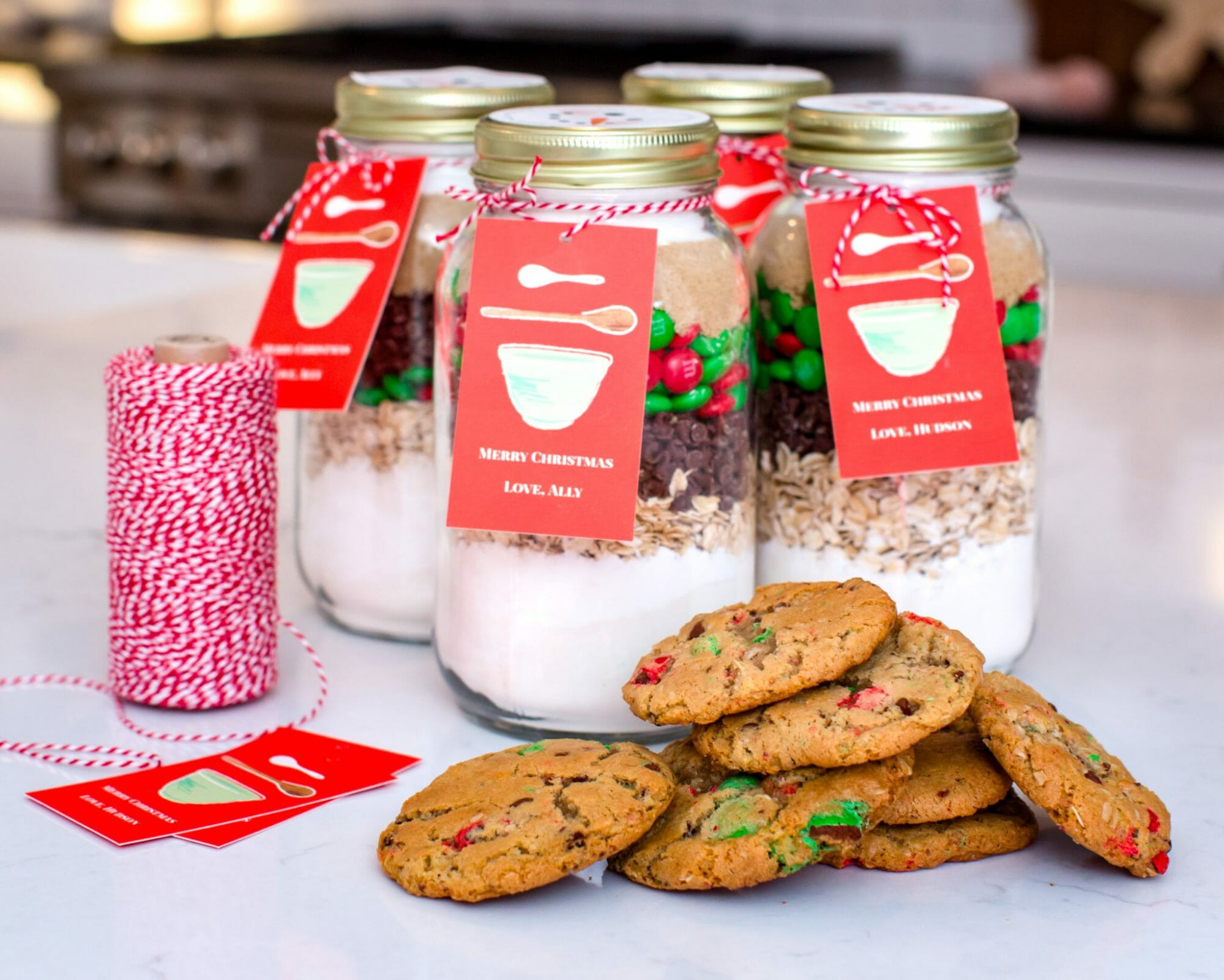 Diy Christmas Cookie Mix In A Jar