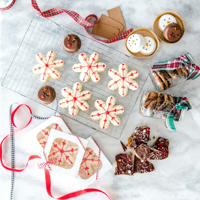 Sweet & Salty Santa Bark
