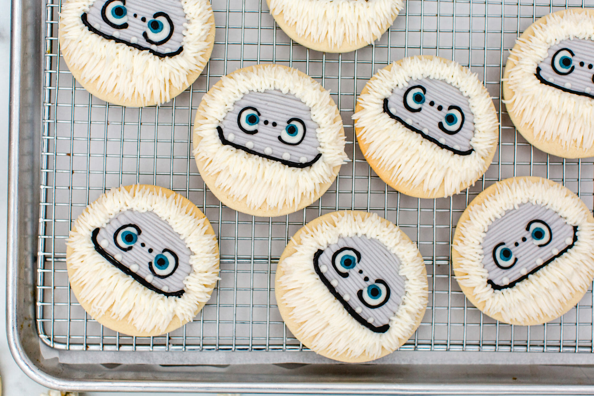 Abominable Movie Night Sugar Cookies